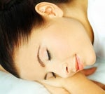 Avoid facial wrinkles by sleeping on your back. Yeah right.