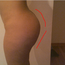 You can (maybe) see that the bottom part of my butt has gotten flat!