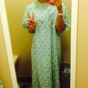 Gowned up! It's huge on me. So weird being in the gown and not my scrubs lol
