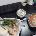 todays lunch: chicken,  rice,  green beans,  Lasagna,  and broccoli soup, yikes!