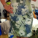 POD 18, wearing a dress from the closet. Hand on hip, but I don't need to squish anything in anymore!! :) :)