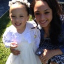 My girls at the wedding...age 3 and age 17! Lol!