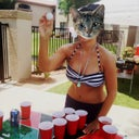 Beer pong in a bikini- another first. (& yes, I won!)