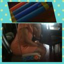 How to use the pool noodles to sit:  Photos acquired from Msbrandnew1's page (Sorry for the fuzziness, but you get the idea!)