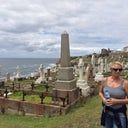 Here I am at an amazing cemetery in Sydney (I was on a 4 mile coastal walk with my husband and oldest son).