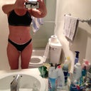 6 weeks 2 days PO more define waist line not so good picture from phone and mirror .