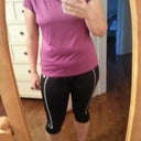 Before pic with clothes.  I want to wear cute running clothes but I hate that you can see my rolls!