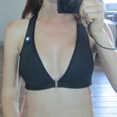 Day 8 - In a 34D Lululemon sports bra. Still have my gross drains, they come out tomorrow!! :D