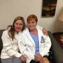 My mom and me at the outpatient lobby