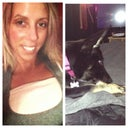 Me and my Stella lounging on the bed missing daddy!
