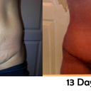 Wow, this one really shows the difference.  Sad belly button to happy belly button.  :)
