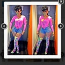 Keyshia Ka'oir. Same height