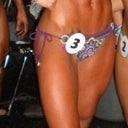 My sis in 2009 I think at a fitness competition. Doesn't she look awesome?!!! 375cc saline BA in 2003