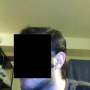 View from the side - easier to define the problem from afar or after short haircut