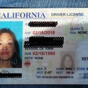 drivers license taken right before lower lid surgery to smooth out fat under eyes