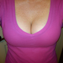 with my new push up bra, WOW!