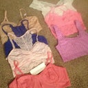 Cute bralettes and tops I bought. Some are so cheap. The pink one was like $3. And purple was $1.99