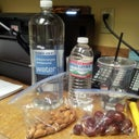 Water and snack for work. 1st Day back!