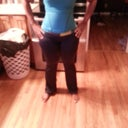 new gym clothes hubby takes awful pics got me looking like a line backer