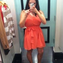 "My new ""salmon"" dress."