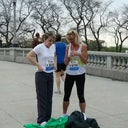 Im the Blonde. My friend Lynne is on the left and also lost 40 pounds? Our goal was to run a race and we DID!!!! This was taken last year.