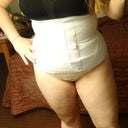 After procedure. With both the binder and the compression garment on