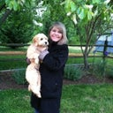 This photo is April 28th and my surgery was April 11th.  My puppy, Amber, and I were standing in the rain.