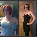 Before and after collage. (2 days post op, shelf bra tank top)