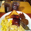 This is enough breakfast for me and Lebron James!! Wtf!
