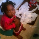 The lil girl....  suppose to going to the potty see the mess!!!! lol priceless!!!!