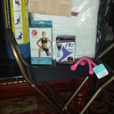 cane chair(garbage) exercise roll, face down pillow, pe ez,hand massage, thigh slimmers, temporary waist cincher