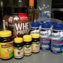 my vitamins and more stuff i blend (minus the alcohol) lol
