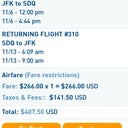 Example of the low price .. Round trip from JFK to D.R. $407.50