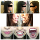 a1. mouth closed, relaxed. a2. mouth closed, smile. a3. mouth closed, teeth bitten down. 