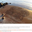 You can see the full article here:http://www.viralnova.com/beach-art/