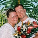 My husband and I, renewing our vows on our fifth anniversary, almost ten years ago.