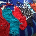 Cleaning out the closet.....Good bye tankini hello bikini! Lol ... Crossing my fingers hoping I won't need these any more.