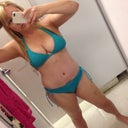 Oh I tried on a roxy bikini today and a cute betsey Johnson! Still need to get my ass to the gym though.