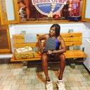 Having fun at dinner during a girls night at bubba gumps