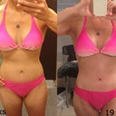 Same bikini, 8 weeks to 19 weeks. Pretty significant difference. I've also lost about 3% body fat in those 11 weeks though.